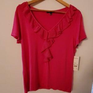 Elementz NWT Short Sleeve Pink Blouse - L